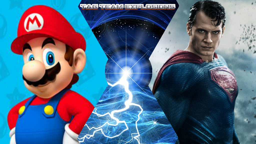 Mario And Superman by lightyearpig