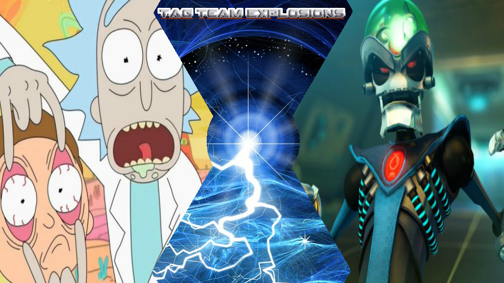 Rick  Morty And Dr Nefarious by lightyearpig