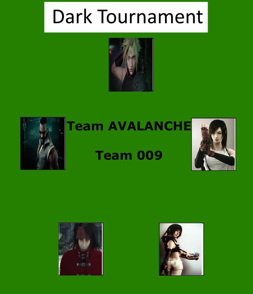 Dark Tournament: Team AVALANCHE by lightyearpig