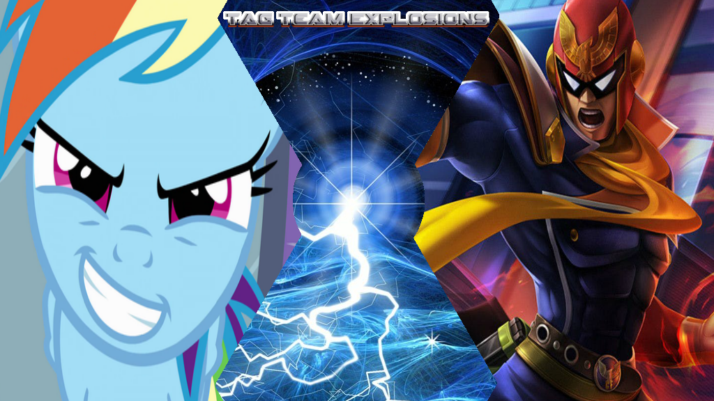 Rainbow Dash And Captain Falcon by lightyearpig