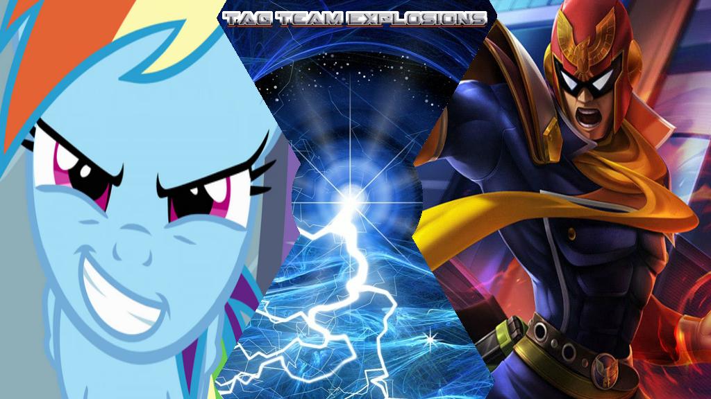 Rainbow Dash And Captain Falcon by lightyearpig