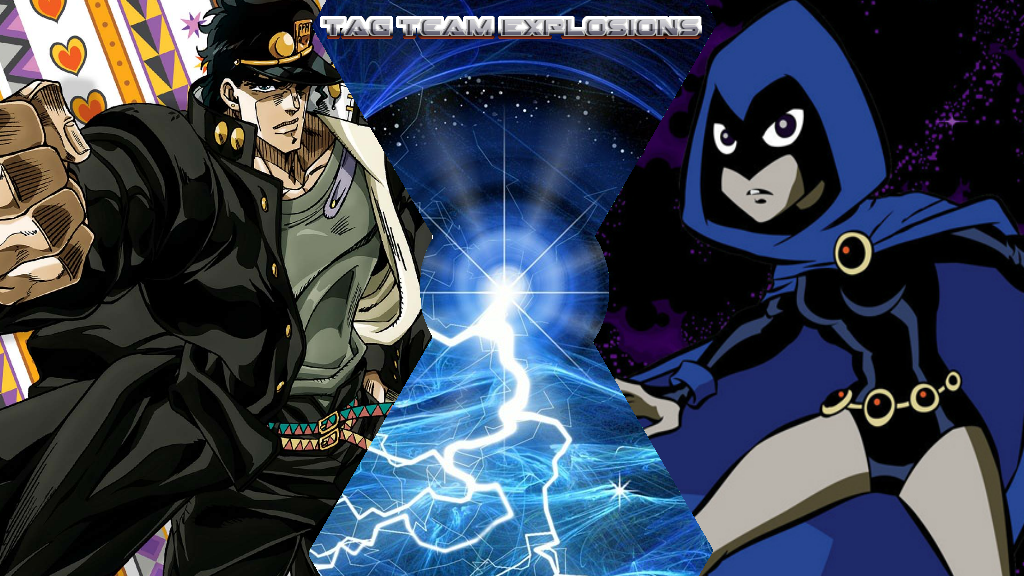 Jotaro Kujo And Raven by lightyearpig