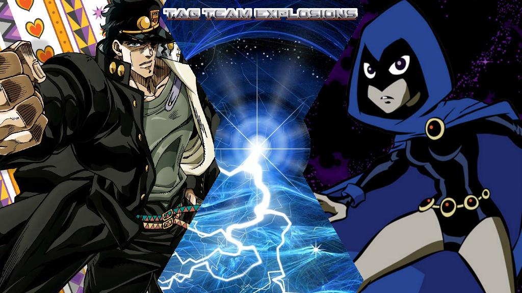 Jotaro Kujo And Raven by lightyearpig