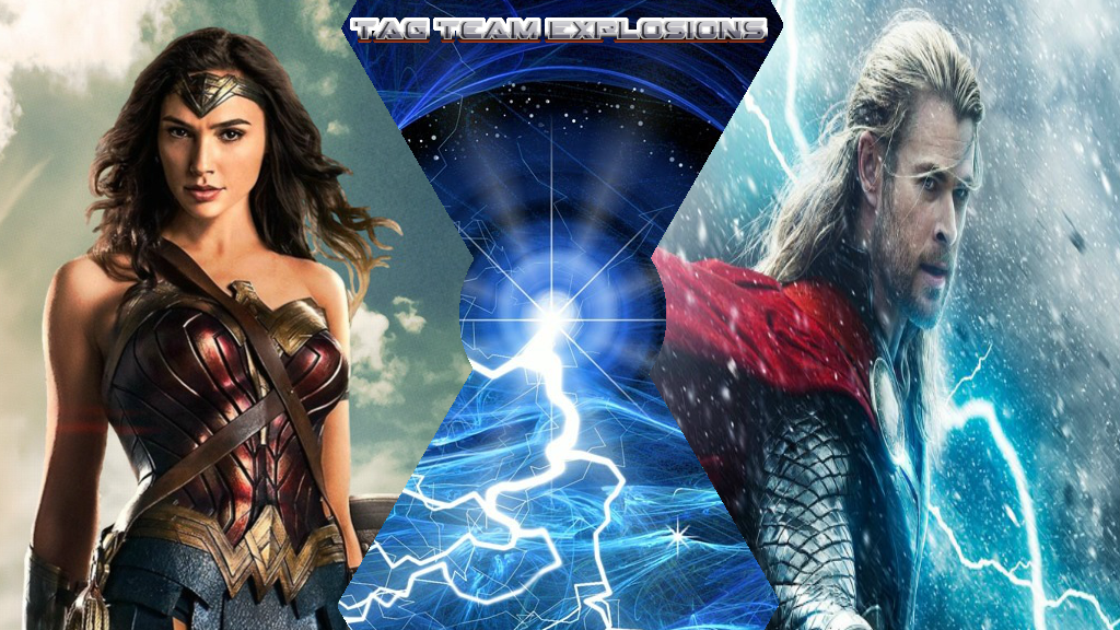 Wonder Woman And Thor by lightyearpig