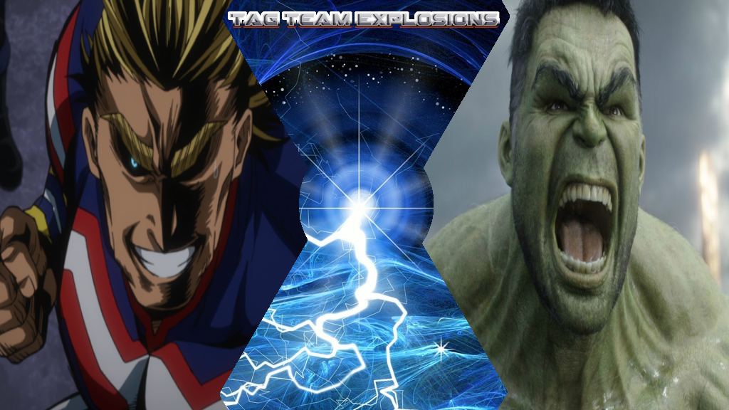 All Might And Hulk by lightyearpig