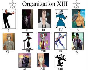 Kingdom Hearts Crossover AU: Organization XIII by lightyearpig