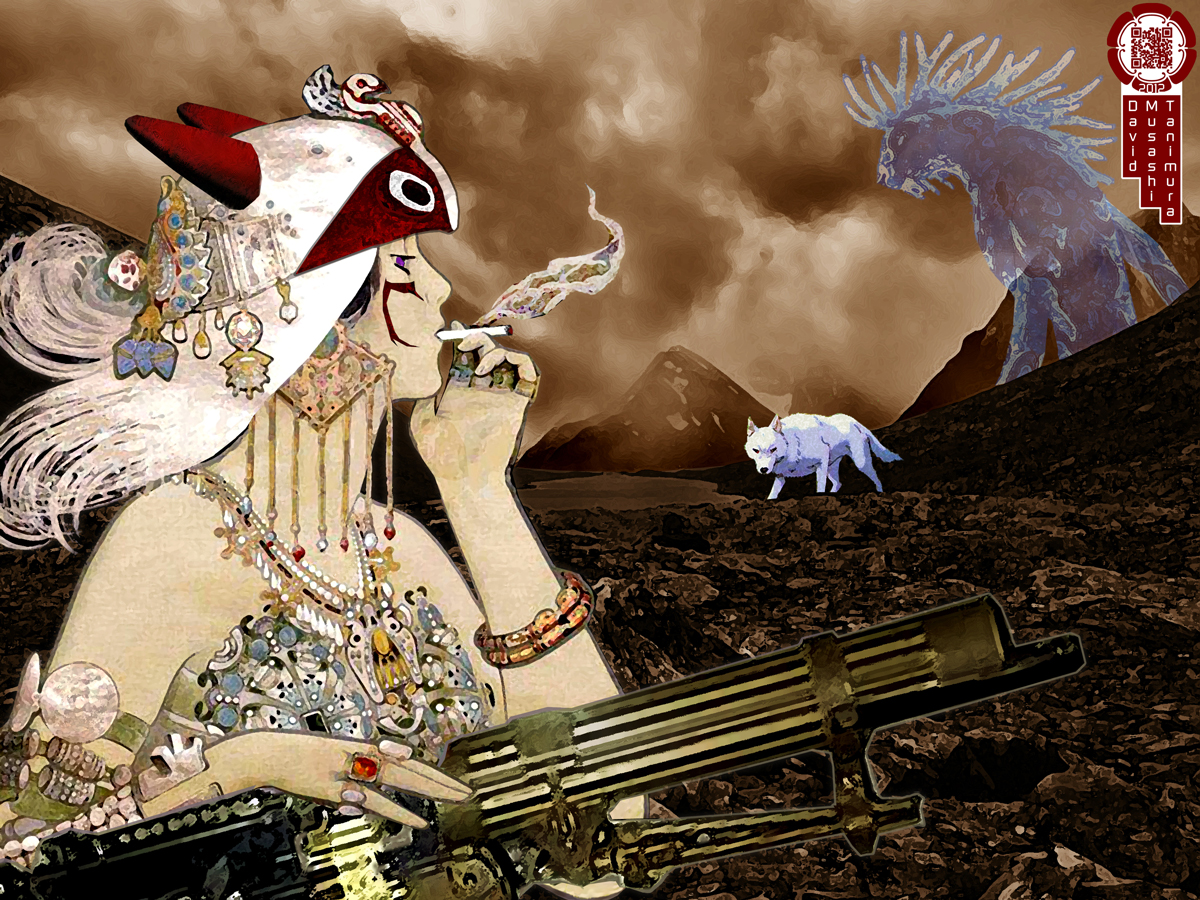 Chasing Smoke - Princess Mononoke Nouveau by musashimixinq
