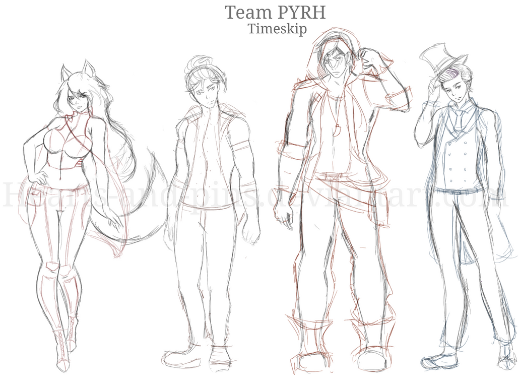 Team PYRH: Timeskip by hearts-and-pins