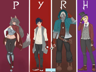 Team PYRH: Time Skip Outfits by hearts-and-pins