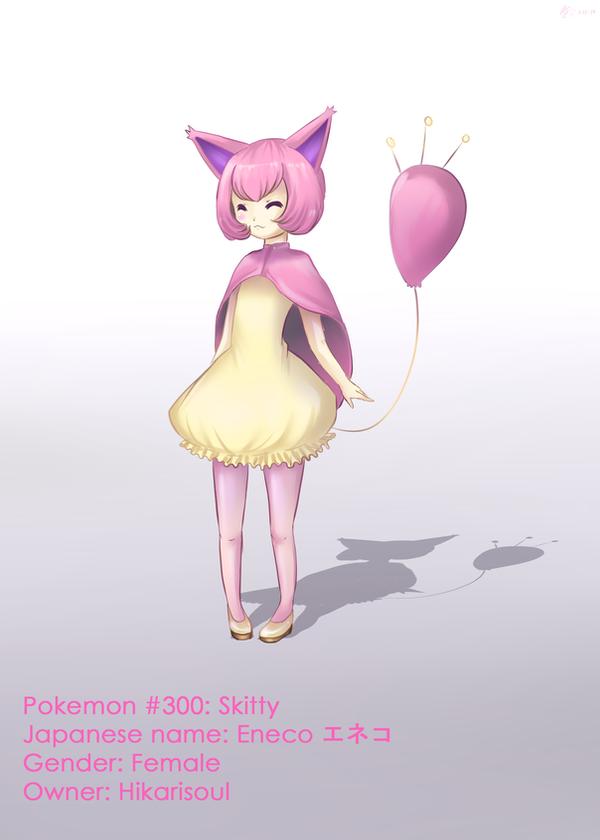 Pokemon Gijinka: Skitty by Hikarisoul2