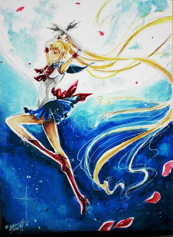 Watercolor Works: Sailormoon Crystal by Hikarisoul2