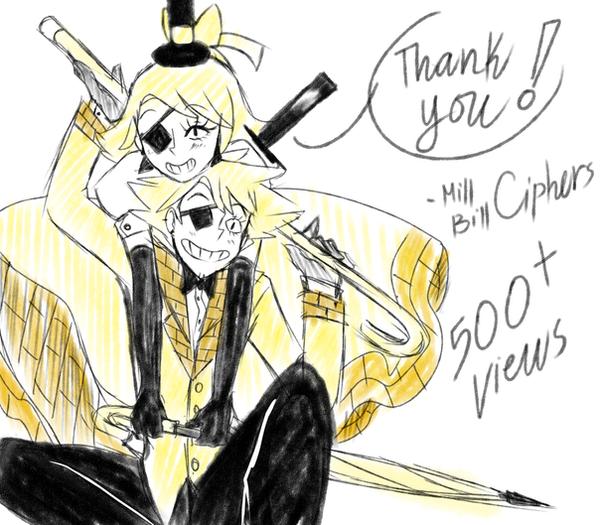 Thank you 500+ Views by Hikarisoul2