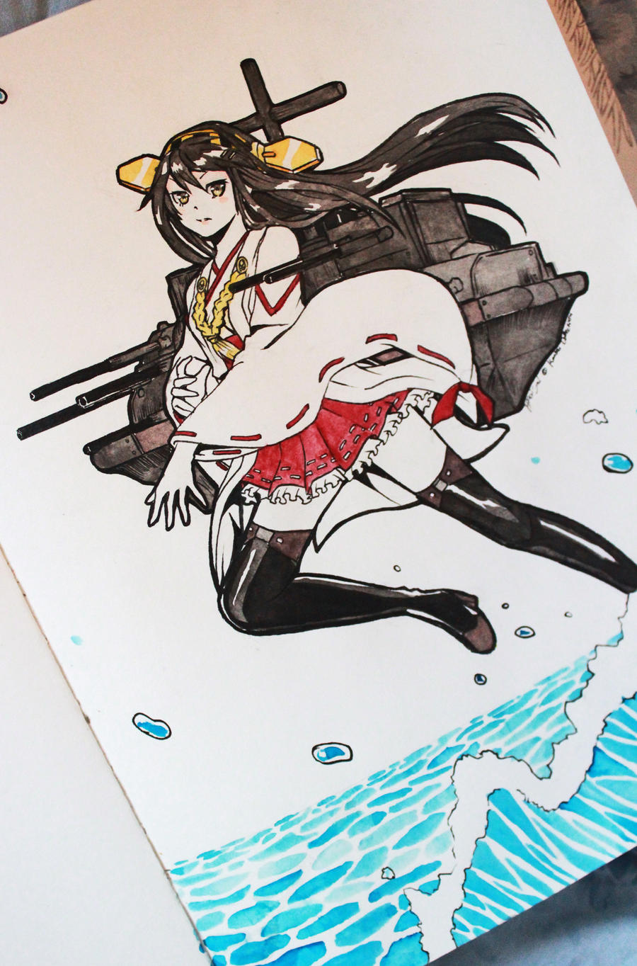 Ink Station: KONGOU CLASS HARUNA by Hikarisoul2