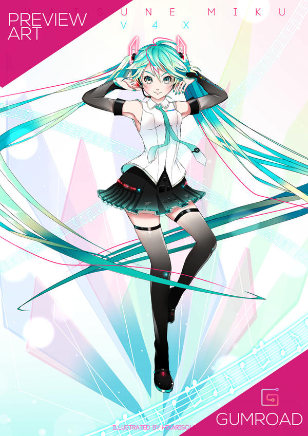 [Fan Art] MIKU39 POSTER: V4X by Hikarisoul2