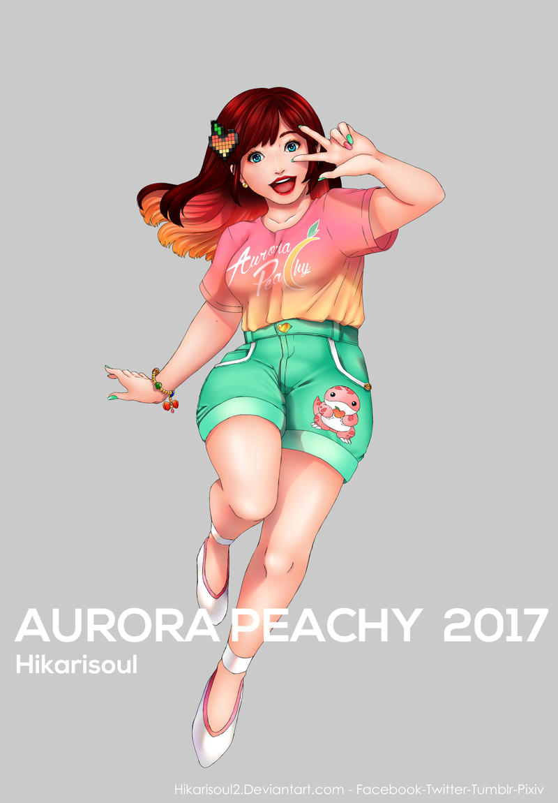 COMMISSION 92717: Aurora Peachy by Hikarisoul2