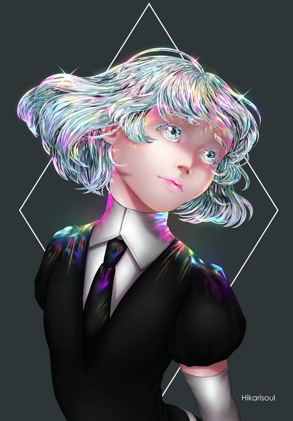[RB/Fan art] Houseki no Kuni: DIAMOND by Hikarisoul2