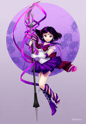 [RB/Fan art] Sailormoon: Super Sailor Saturn by Hikarisoul2