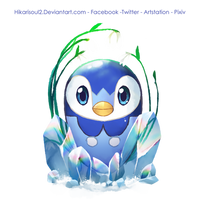 [Charity Art] Charity Guild: Piplup Easter Egg by Hikarisoul2