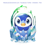 [Charity Art] Charity Guild: Piplup Easter Egg