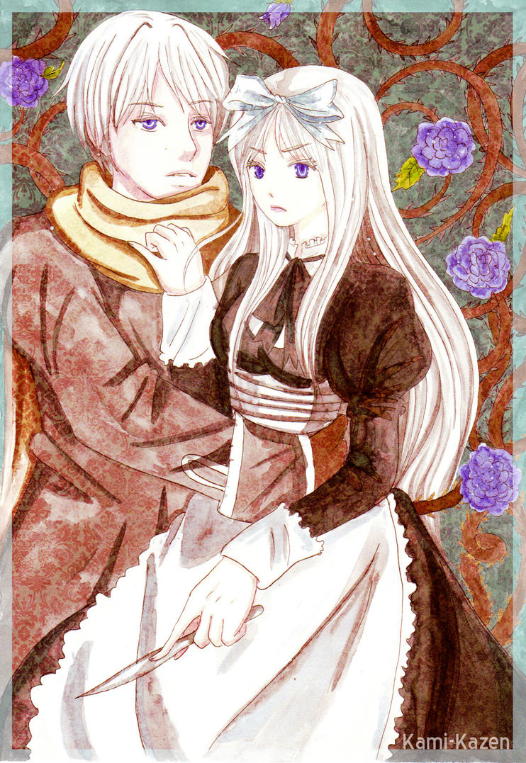 APH: roses with thorns by momofukuu