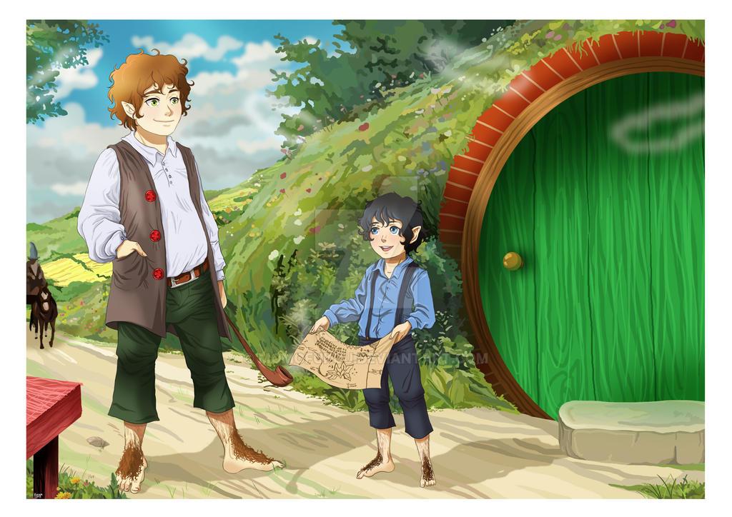Hobbits by momofukuu