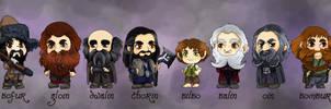 Bilbo and 13 dwarves