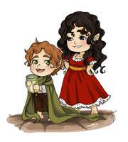 Bilbo and Belladona by momofukuu