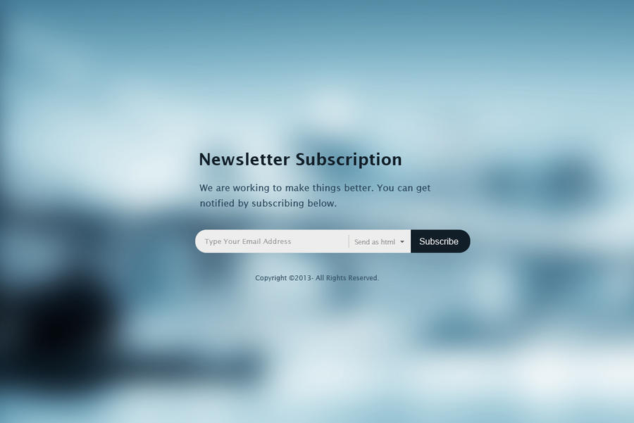 Newsletter Subscription Form by wasimshahzad