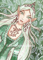 ACEO - Elven Princess by Malczewska