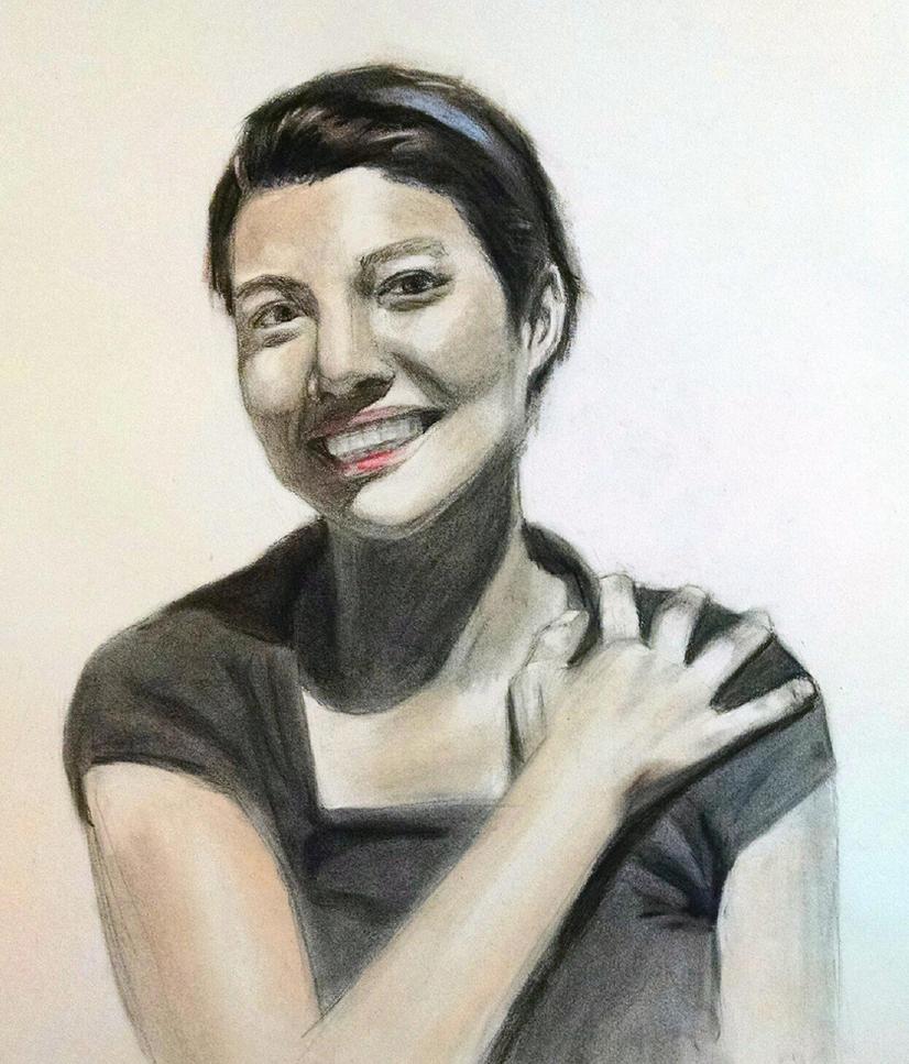 Charcoal/Pastel Portrait Study by StylishKira