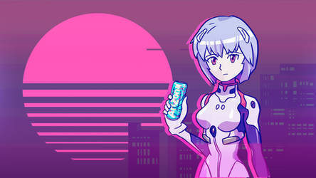Rei Vaporwave Wallpaper by StylishKira