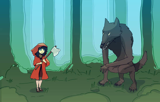 Red Riding Hood Cartoon