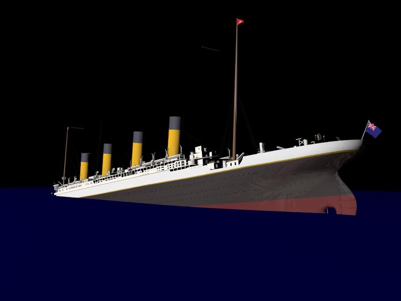 Titanic Sinking 1 20 A M Cinema 4d Render By