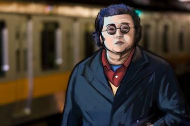 Man in the Subway by enemydownbelow