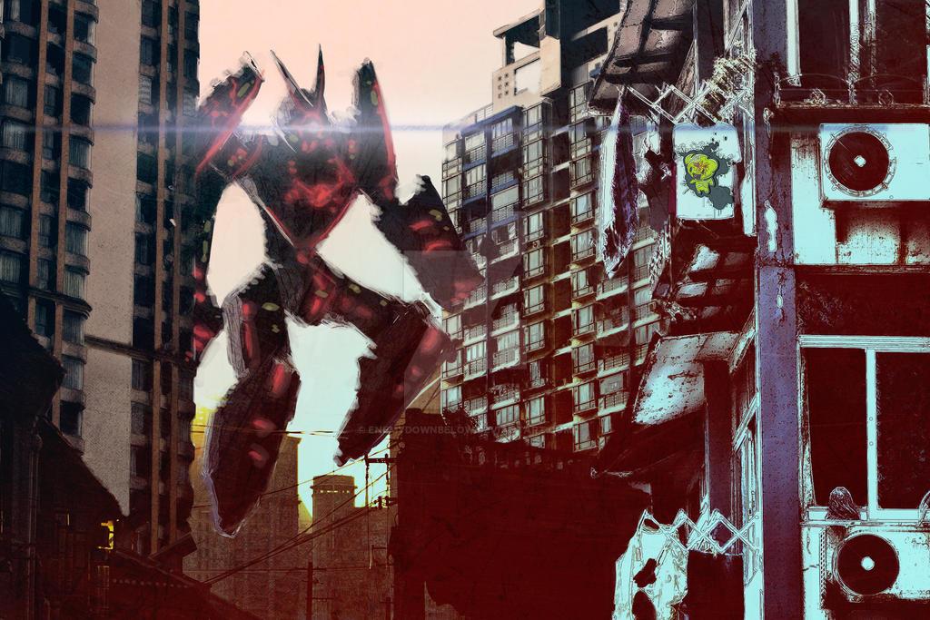 Giant Robot in Shanghai by enemydownbelow
