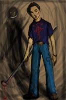 Self Portrait from school ID by enemydownbelow