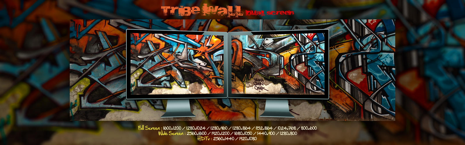 Tribe Wall  -  Dual Screen