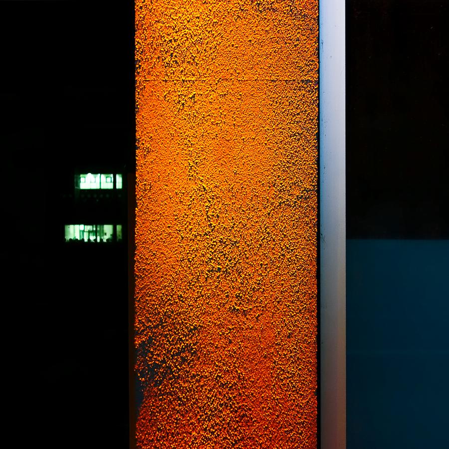 Green Night Orange Day Blue Sea by Pierre-Lagarde
