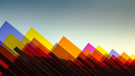 Color Mountains Wide Wallpaper