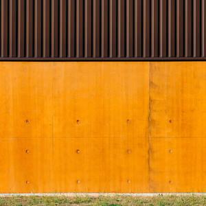 Orange Wall by Pierre-Lagarde