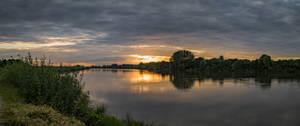 Loira sunset - panoramic view