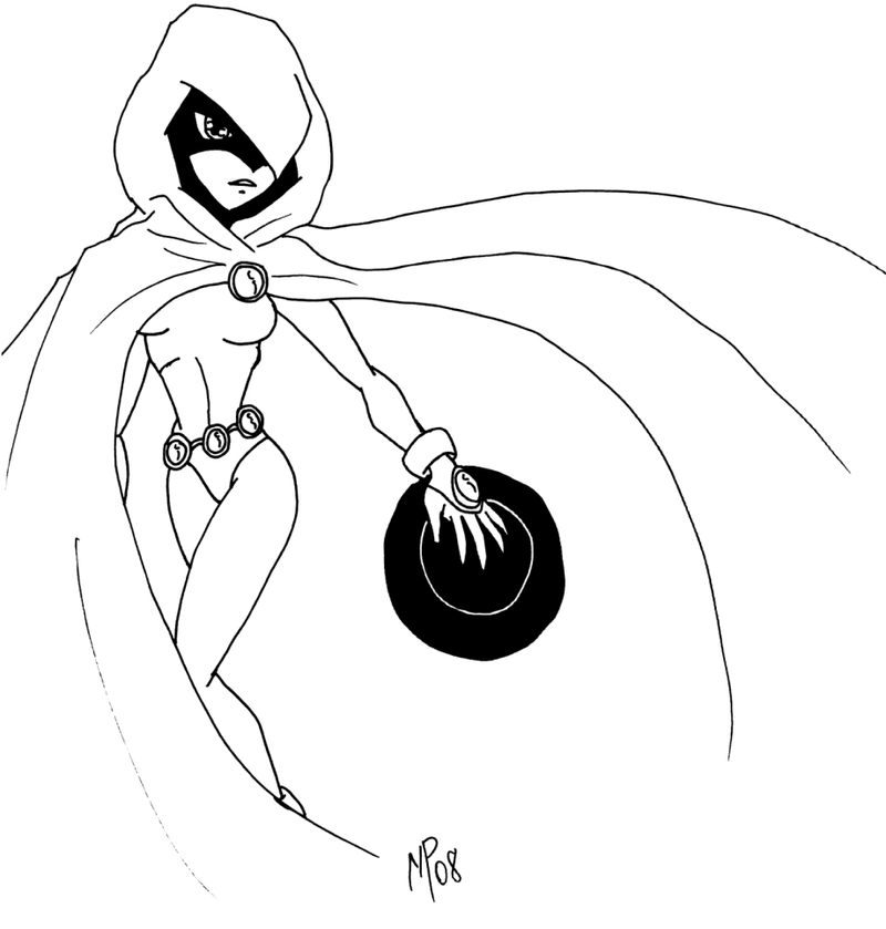 Teen titans raven 2 by ultimeciaffb on deviantart for Ravens coloring pages