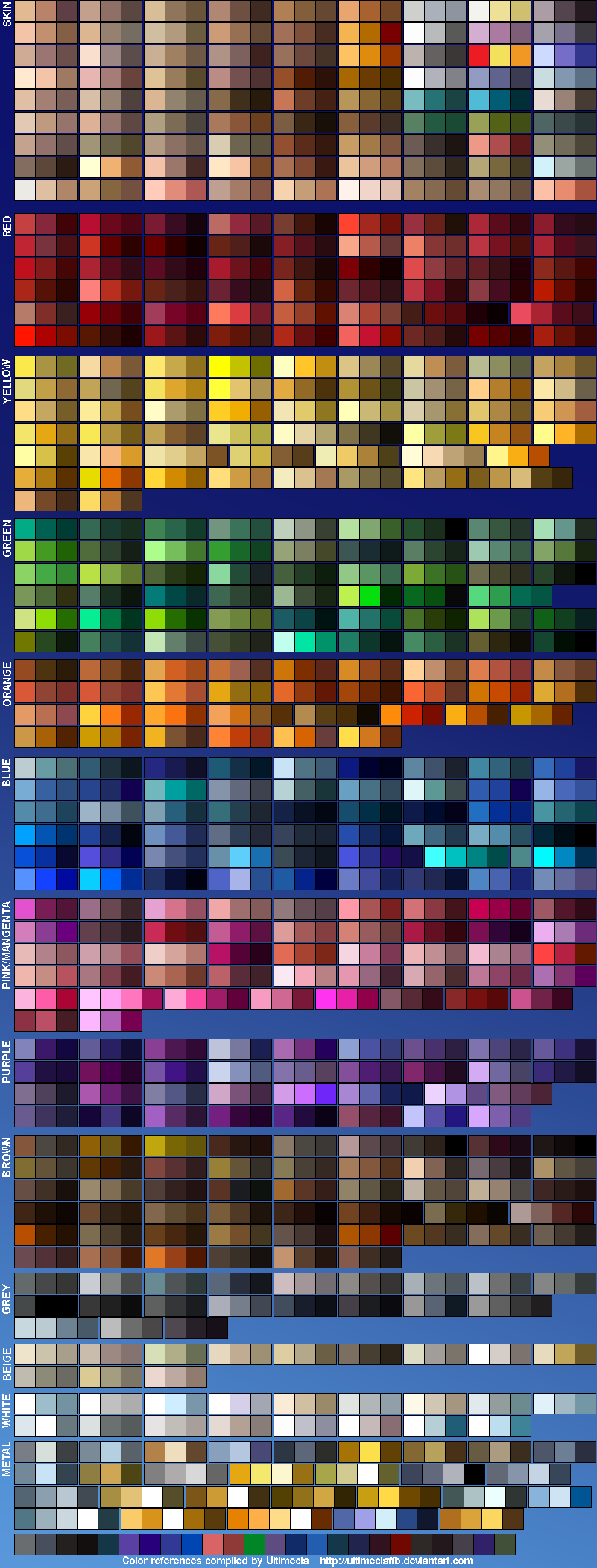 Color References 4 by UltimeciaFFB