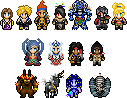 Sprites - Final Fantasy X by UltimeciaFFB