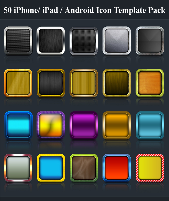 50 iphone icons templates by killer icons on deviantart for Iphone app logo template