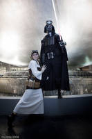 Steampunk Vader and Leia by ljvaughn