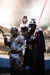 Steampunk Star Wars Trio by ljvaughn