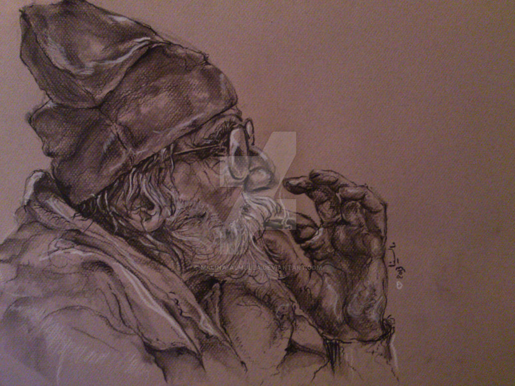 old man ..... by malina-almulla