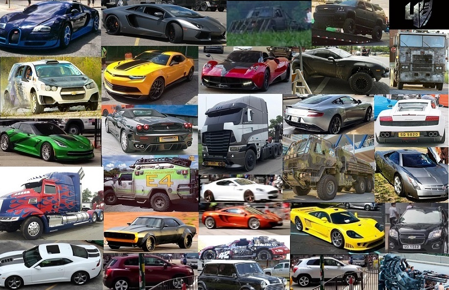 Image Gallery transformers 6 cars