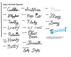 Happy Tree Friends' Signatures by KaplanBoys214